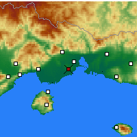 Nearby Forecast Locations - Abdera - Map