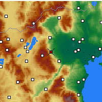 Nearby Forecast Locations - Naousa - Map