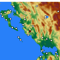 Nearby Forecast Locations - Margariti - Map