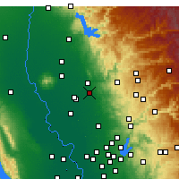 Nearby Forecast Locations - Marysville AF - Map