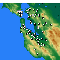 Nearby Forecast Locations - San Carlos - Map