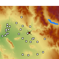 Nearby Forecast Locations - Mesa - Map
