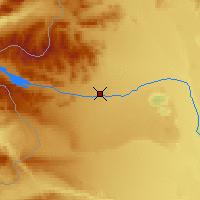 Nearby Forecast Locations - Alto Río Senguer - Map