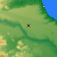 Nearby Forecast Locations - Pico Truncado - Map