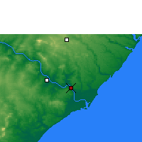 Nearby Forecast Locations - Penedo - Map