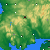 Nearby Forecast Locations - Sanquhar - Map
