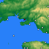 Nearby Forecast Locations - Llanelli - Map