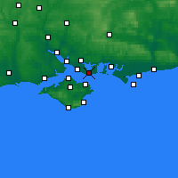 Nearby Forecast Locations - Gosport - Map