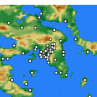 Nearby Forecast Locations - Nea Ionia - Map