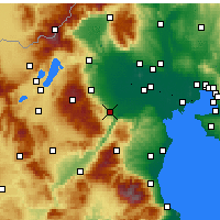 Nearby Forecast Locations - Veria - Map