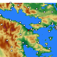 Nearby Forecast Locations - Lechaio - Map