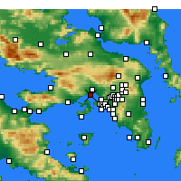 Nearby Forecast Locations - Eleusis - Map