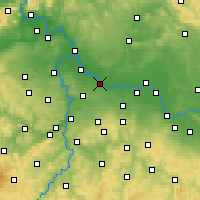 Nearby Forecast Locations - Brandýs nad Labem-Stará Boleslav - Map