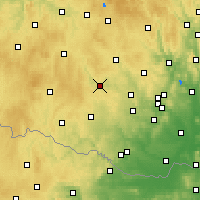 Nearby Forecast Locations - Třebíč - Map