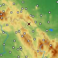 Nearby Forecast Locations - Nowa Ruda - Map