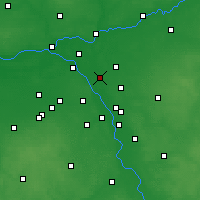 Nearby Forecast Locations - Ząbki - Map