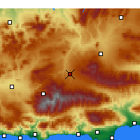 Nearby Forecast Locations - Guadix - Map