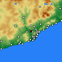 Nearby Forecast Locations - Rubi - Map