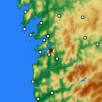 Nearby Forecast Locations - Redondela - Map