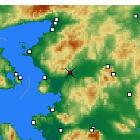 Nearby Forecast Locations - Bergama - Map