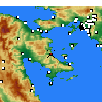Nearby Forecast Locations - Archea Epidavros - Map