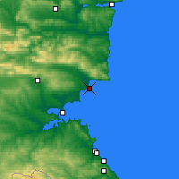 Nearby Forecast Locations - Nesebăr - Map