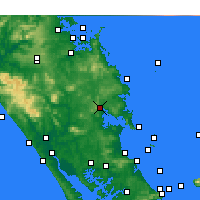 Nearby Forecast Locations - Whangarei - Map