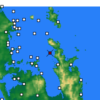 Nearby Forecast Locations - Motukawao Island - Map
