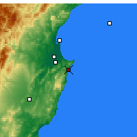 Nearby Forecast Locations - Ocean Beach - Map