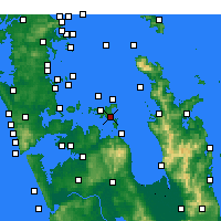 Nearby Forecast Locations - Waiheke Channel - Map