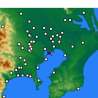 Nearby Forecast Locations - Koto - Map