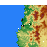 Nearby Forecast Locations - Viña del Mar - Map