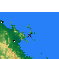 Nearby Forecast Locations - Hamilton Island - Map
