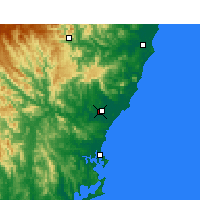 Nearby Forecast Locations - Taree - Map