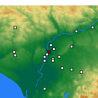 Nearby Forecast Locations - Seville - Map