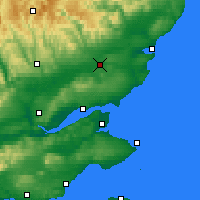 Nearby Forecast Locations - Forfar - Map