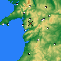 Nearby Forecast Locations - Gwynedd - Map
