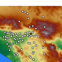 Nearby Forecast Locations - San Bernardino - Map