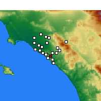 Nearby Forecast Locations - Aliso Viejo - Map