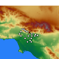 Nearby Forecast Locations - Altadena - Map