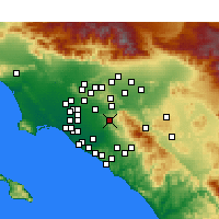 Nearby Forecast Locations - Anaheim - Map
