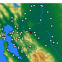Nearby Forecast Locations - Antioch - Map