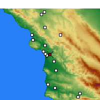 Nearby Forecast Locations - Arroyo Grande - Map