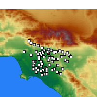 Nearby Forecast Locations - Baldwin Park - Map