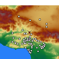 Nearby Forecast Locations - Canyon Country - Map
