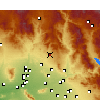 Nearby Forecast Locations - Cave Creek - Map