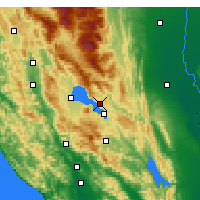 Nearby Forecast Locations - Clearlake Oaks - Map
