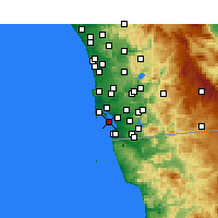 Nearby Forecast Locations - Coronado - Map