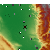 Nearby Forecast Locations - Delano - Map
