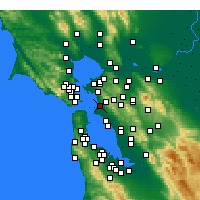 Nearby Forecast Locations - Emeryville - Map